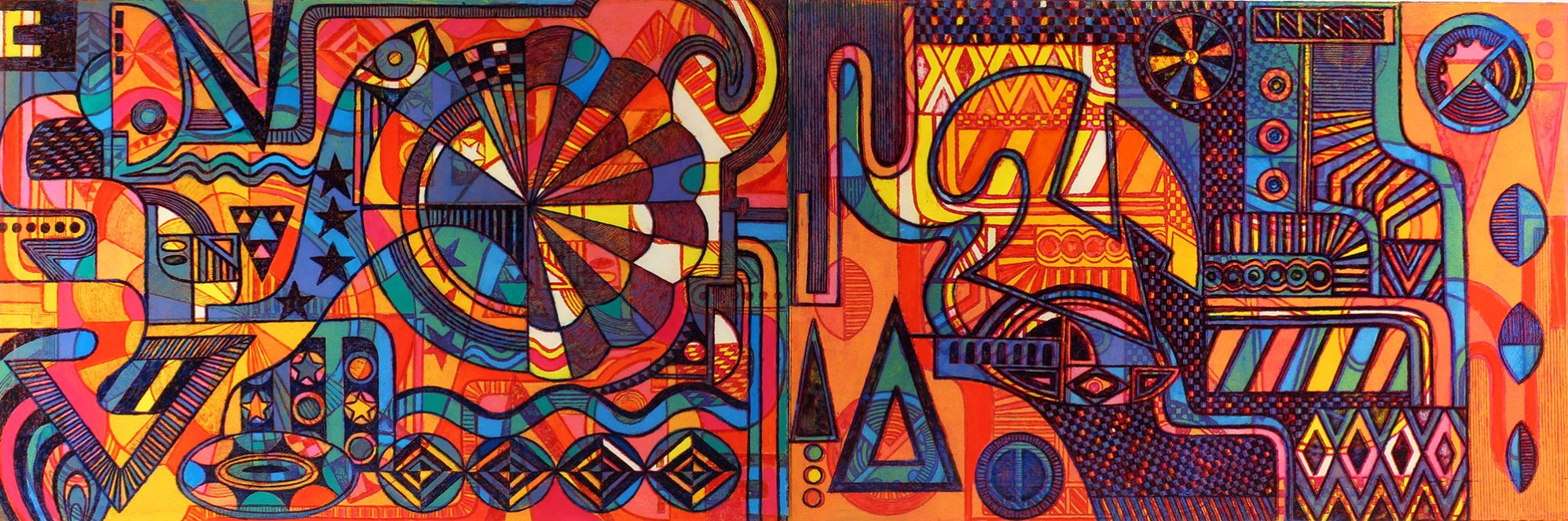 "Transcendentalism II 23.5"" x 72"" Etching on Paper"