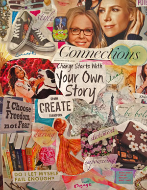 Thisis a photo of depicting the Inspiration Board - for this blog Creating Your Own Story
