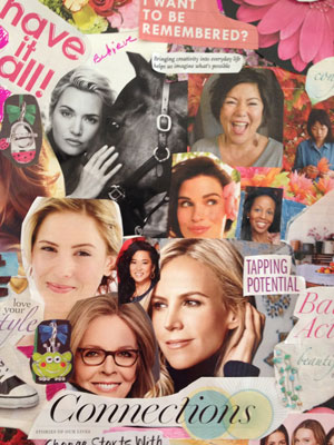 Photo of the blog inspiration board depicting Diverse Women Interested in connecting and engaging
