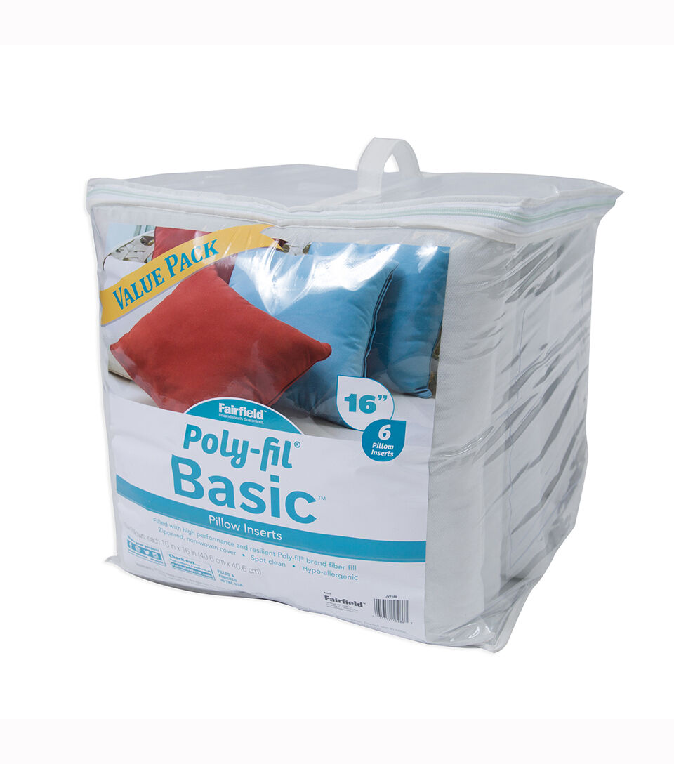 poly fil basic 16 x16 pillow inserts value pack
