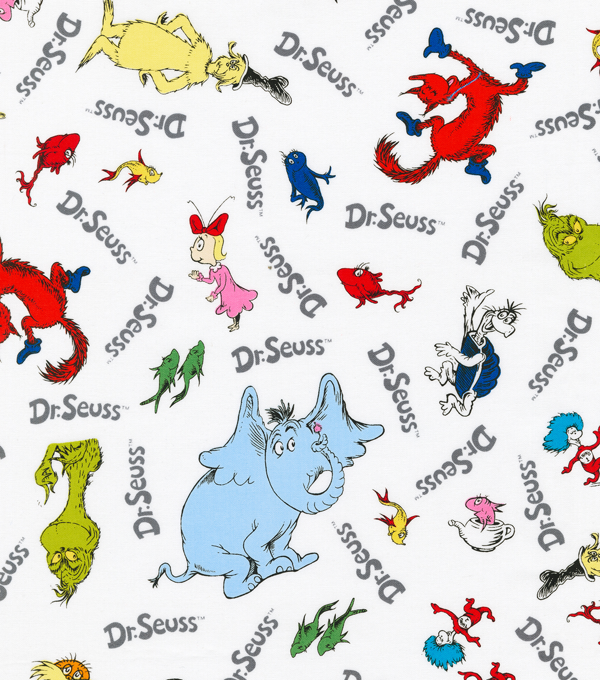 Dr Seuss Cotton Fabric Character