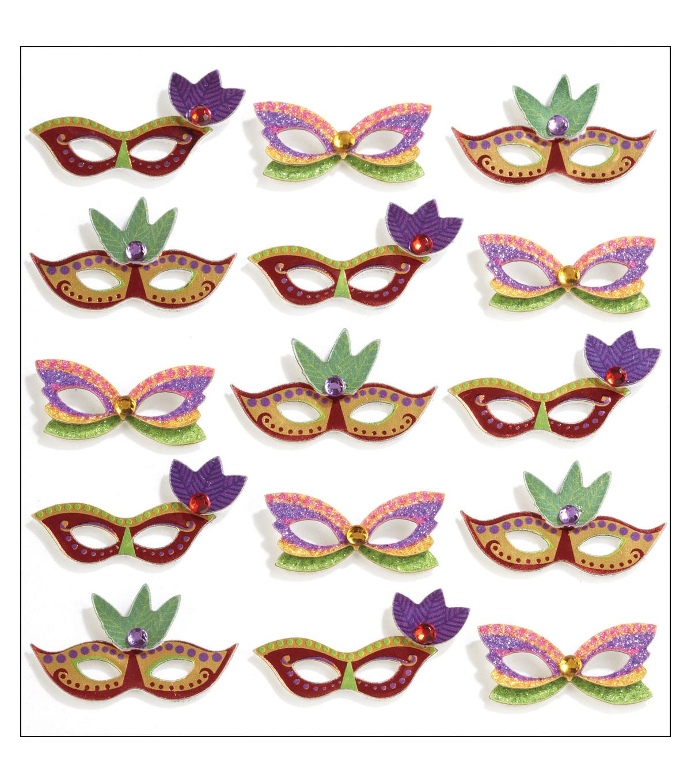 Jolee S Mini Repeats Stickers Mardi Gras Masks