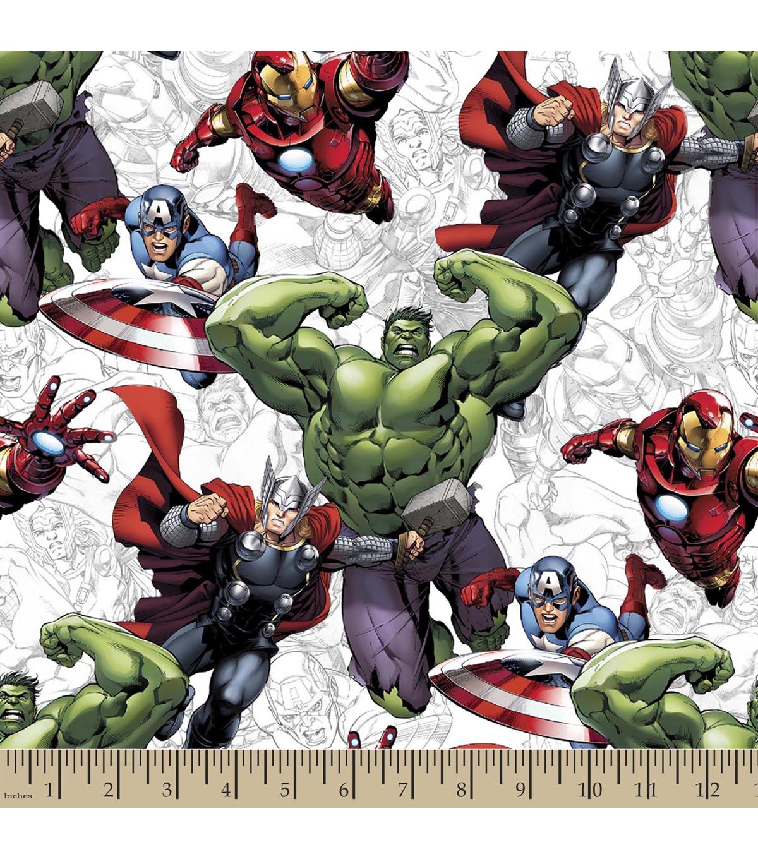 Marvels The Avengers Print Fabric JOANN