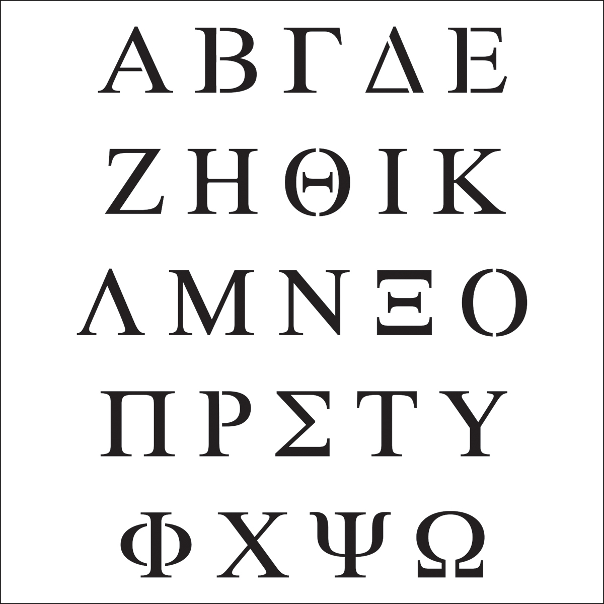 Crafter S Workshop Template Greek Letters 6 X 6