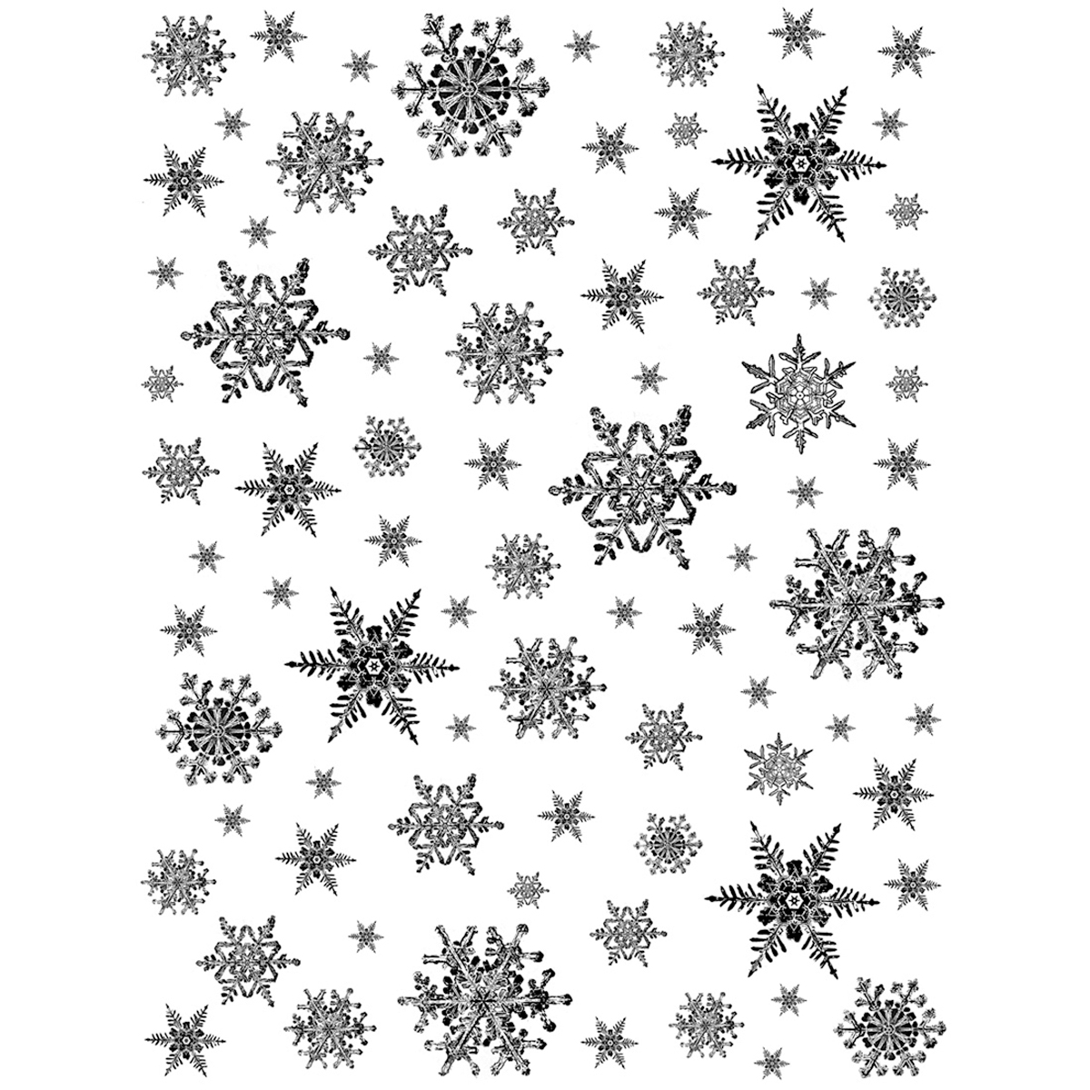 Crafty Individuals Unmounted Rubber Stamp Snowflakes
