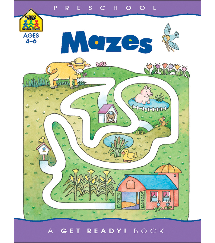 School Zone Preschool Workbooks 32 Pages Mazes