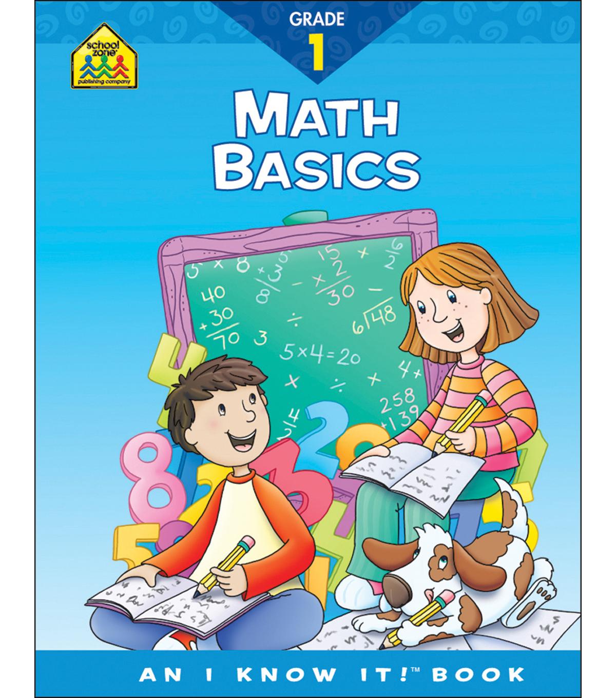 School Zone Curriculum Workbooks Math Basics Grade 1