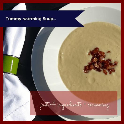 TSL Cauliflower and Leaak Soup with Crispy Bacon Bits