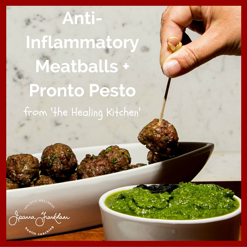 The Healing Kitchen Meatballs and Pesto