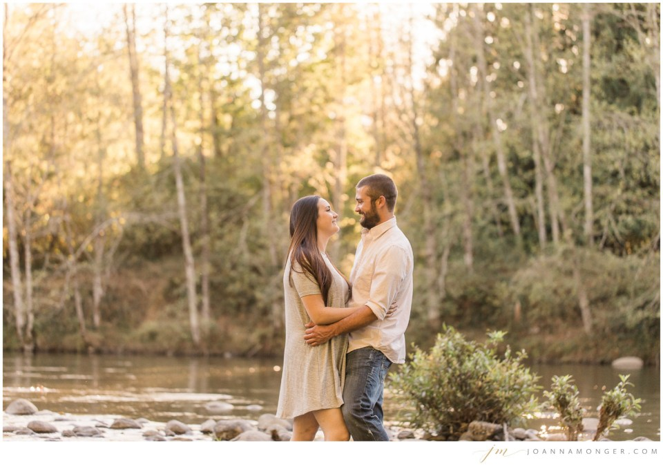 Engagement photos along Sultan River in Snohomish County, near Seattle, WA. | Joanna Monger Photography | Snohomish & Seattle Wedding Photographer