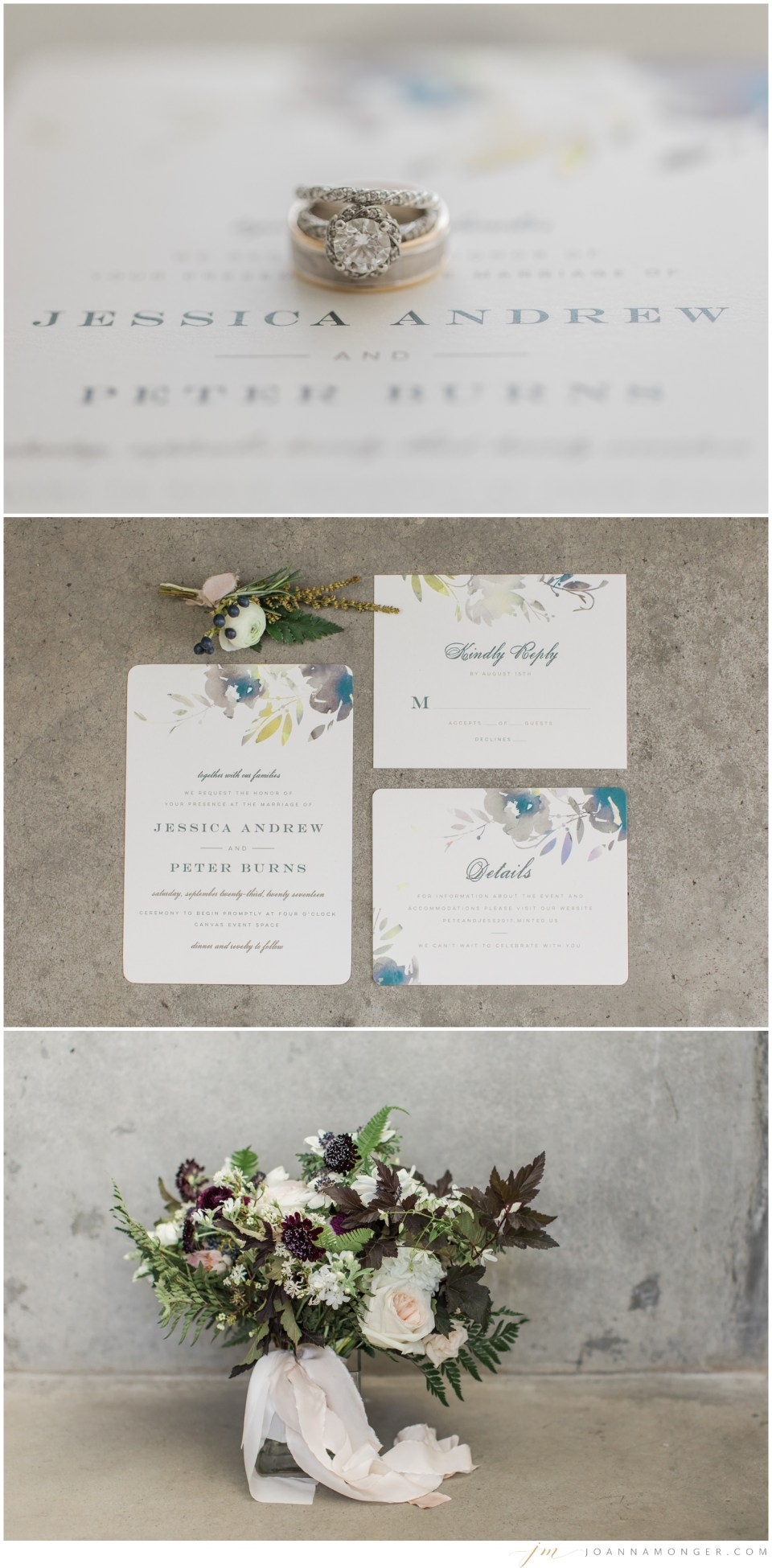 Details from an elegant wedding at Canvas Event Space in SODO, Seattle, WA. | Joanna Monger Photography | Snohomish & Seattle Wedding Photographer
