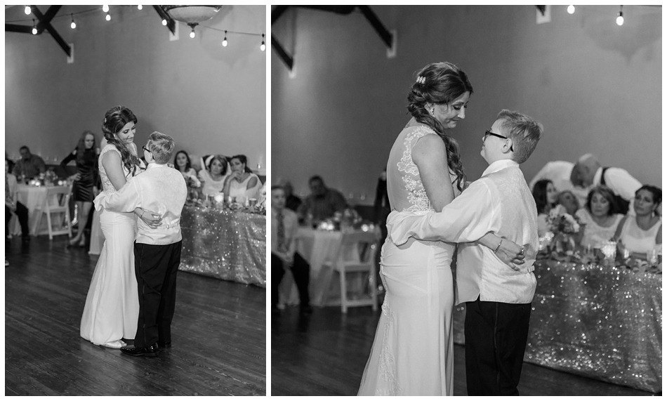A bride dances with her son during her special winter wedding at Hidden Meadows, a wedding venue in Snohomish near Seattle, WA. | Joanna Monger Photography | Snohomish & Seattle Wedding Photography