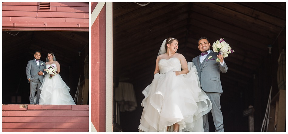 Photo of bride and groom at a rustic barn wedding at Craven Farms in Snohomish, a wedding venue near Seattle. | Joanna Monger Photography