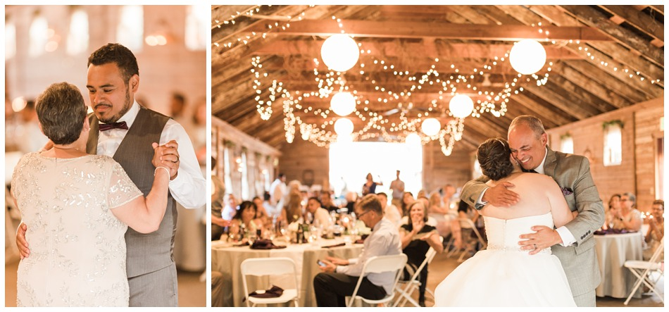 Photo of wedding reception at a rustic barn wedding at Craven Farms in Snohomish, a wedding venue near Seattle. | Joanna Monger Photography