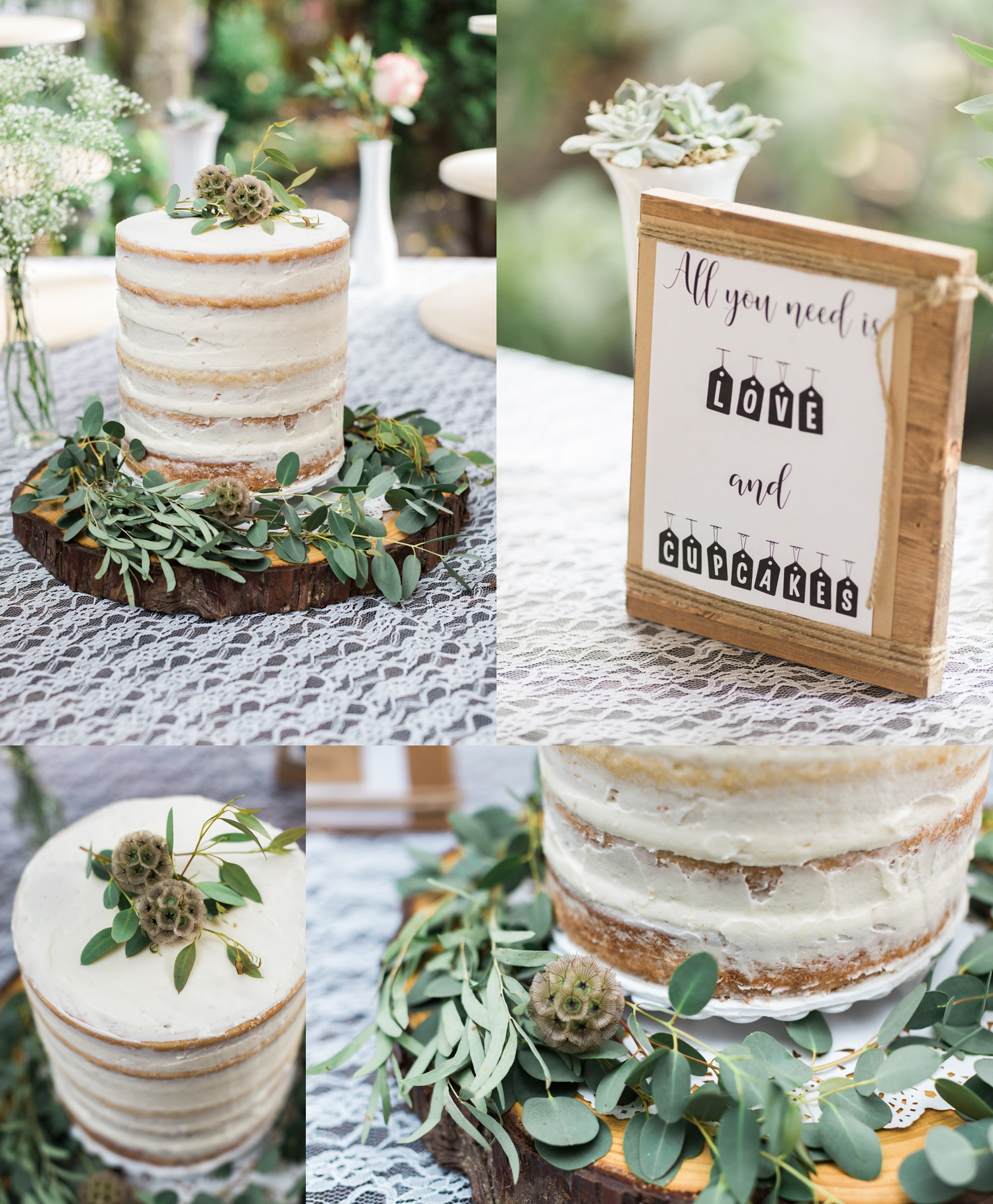 A gorgeous naked wedding cake for a summer wedding at Maroni Meadows in Snohomish, a wedding venue near Seattle, WA. | Joanna Monger Photography | Seattle & Snohomish Photographer