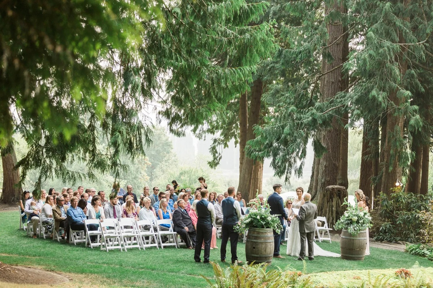 A photo of a wedding ceremony at Chateau Lill in Woodinville, a wedding venue near Seattle, WA. | Joanna Monger Photography | Seattle & Snohomish Photographer