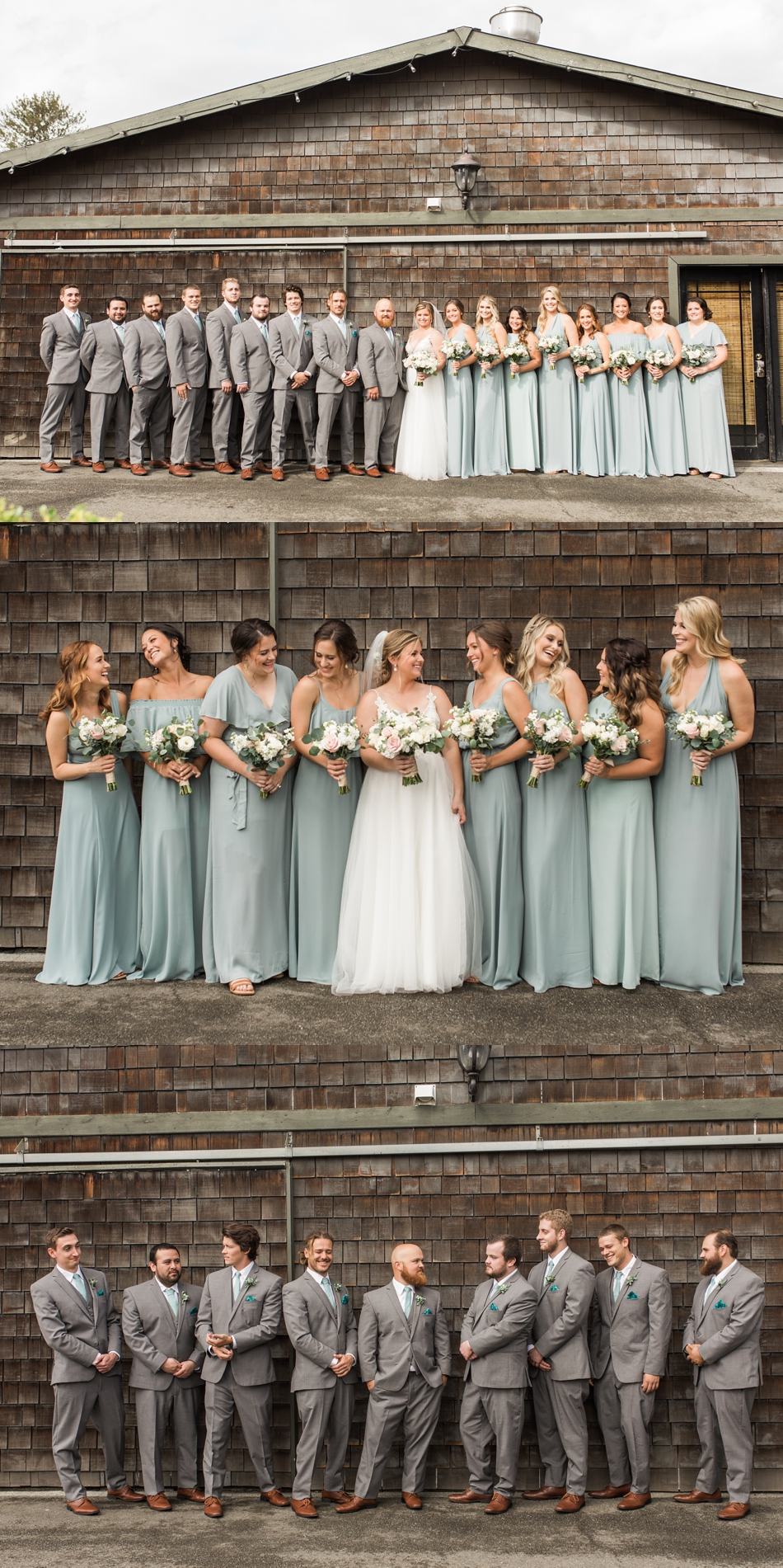 Photo of bridal party at a Hidden Meadows Farms wedding in Snohomish, a rustic yet elegant wedding venue near Seattle. | Joanna Monger Photography