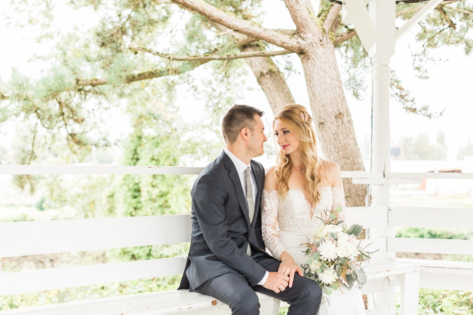 Photo of an intimate moment between the bride and groom at an intimate wedding at Belle Chapel in Snohomish, a wedding venue near Seattle. | Joanna Monger Photography | Snohomish & Seattle Photographer
