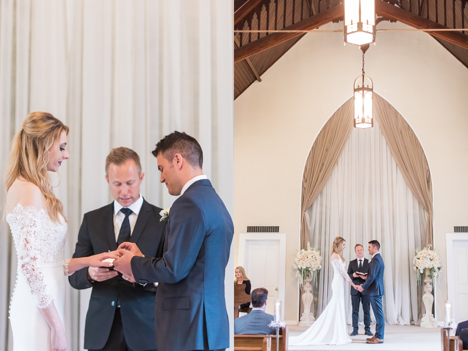 Photo of bride and groom at their ceremony at an intimate wedding at Belle Chapel in Snohomish, a wedding venue near Seattle. | Joanna Monger Photography | Snohomish & Seattle Photographer