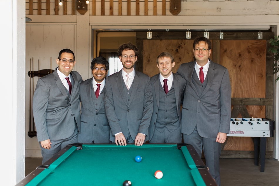 Photo of groom and groomsmen at Snohomish Wedding Venue Dairyland Barn near Seattle | Joanna Monger Photography