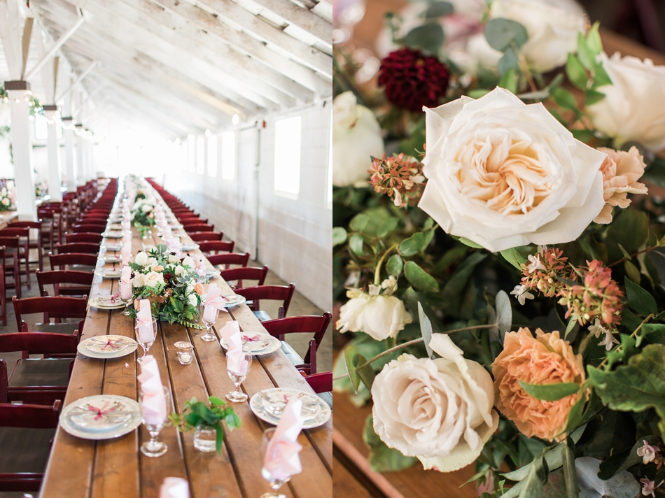 Photo of table decor at Snohomish Wedding Venue Dairyland Barn near Seattle | Joanna Monger Photography