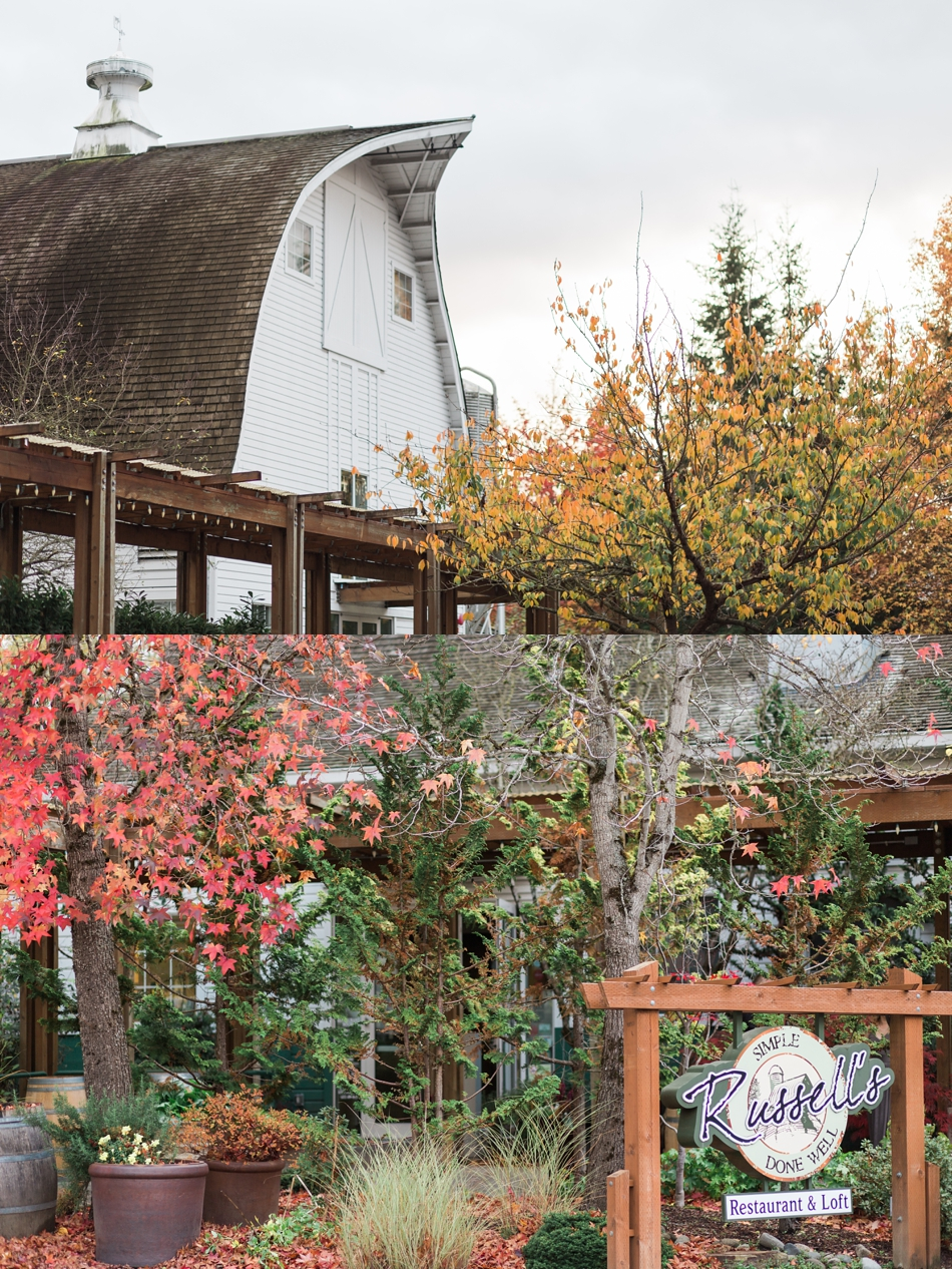 A fall photo of wedding venue the Loft at Russell's in Bothell, a wedding venue near Seattle. | Joanna Monger Photography | Snohomish & Seattle Wedding Photographer