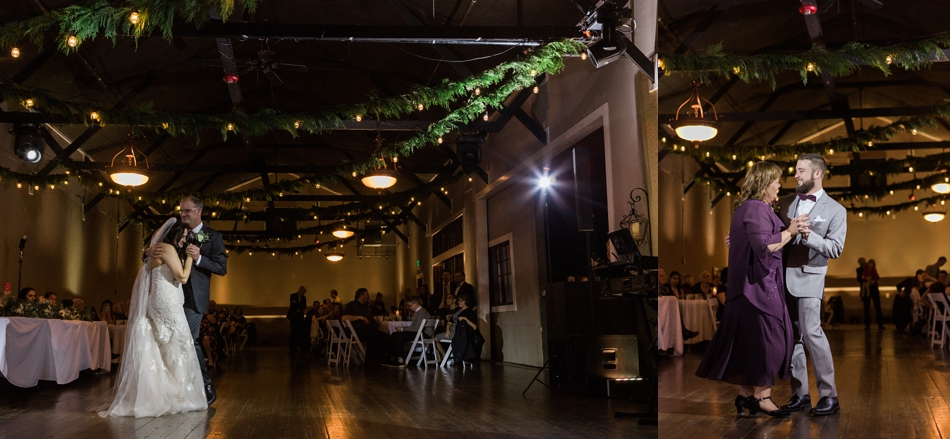 A photo of the dance floor of a winter wedding at Hidden Meadows in Snohomish, a wedding venue near Seattle, WA. | Joanna Monger Photography | Snohomish & Seattle Wedding Photographer
