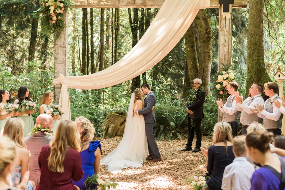 Getting married in the forest at Twin Willow Gardens in Snohomish. Photos by Joanna Monger Photography, Snohomish and Seattle Wedding Photographer.