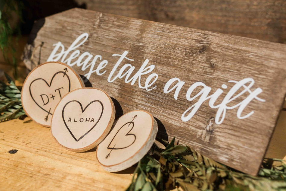 Wedding favors at Twin Willow Gardens in Snohomish. Photos by Joanna Monger Photography, Snohomish and Seattle Wedding Photographer.