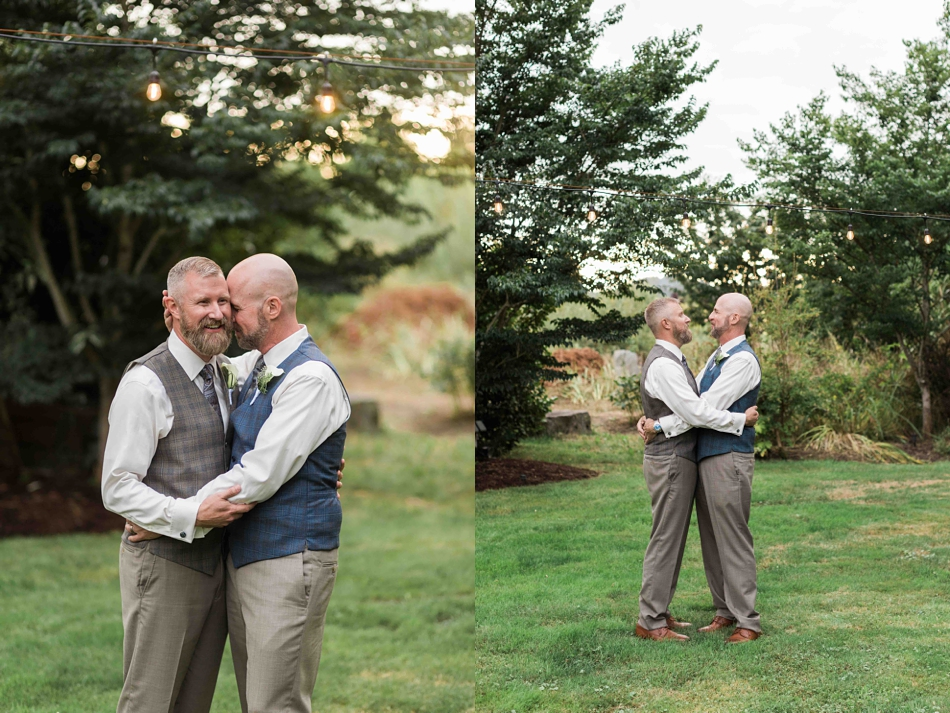 Love in a field at Falling Water Gardens in Monroe. Photos by Joanna Monger Photography, Snohomish and Seattle Wedding Photographer.