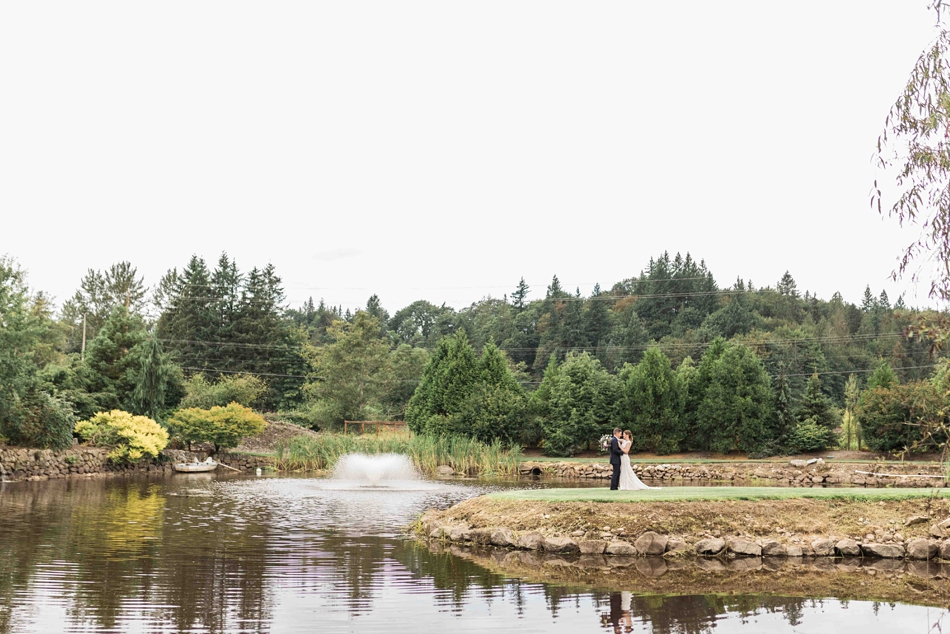A beautiful outdoor setting at Pine Creek Nursery in Monroe. Photographs by Joanna Monger Photography, Snohomish's Best Wedding Photographer.
