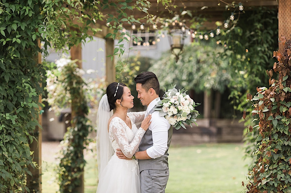 A couple in love at Craven Farms in Snohomish. Photos by Joanna Monger Photography, Snohomish and Woodinville Wedding Photographer.