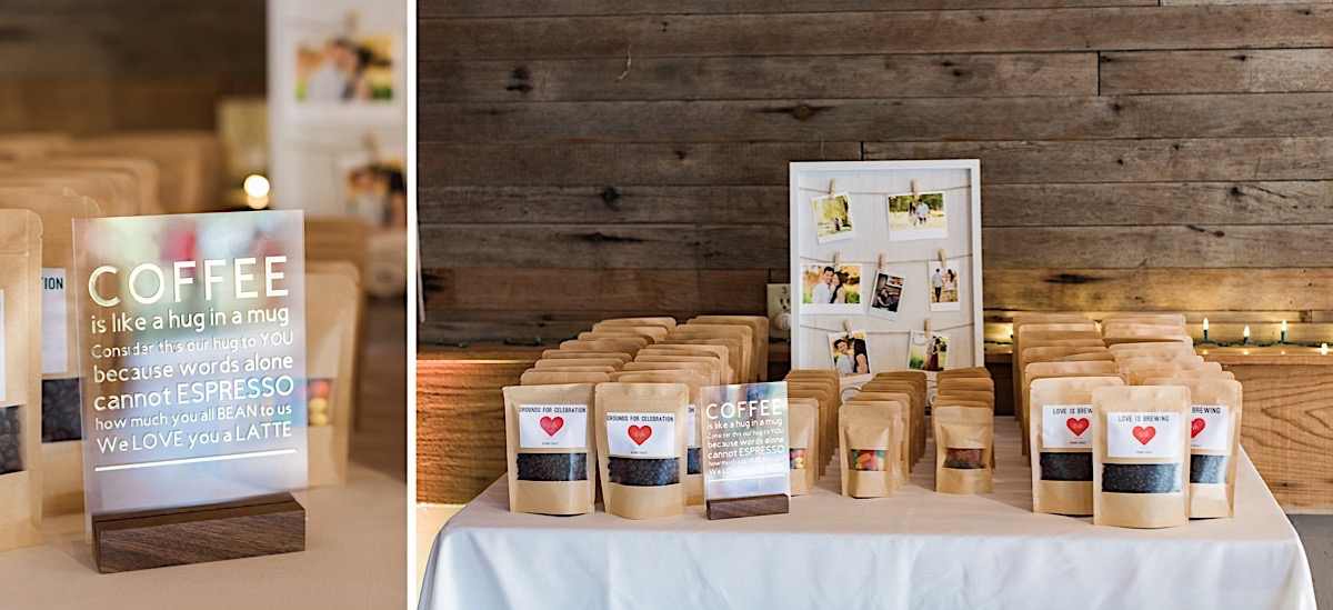 Lovely wedding favors at Craven Farms in Snohomish. Photos by Joanna Monger Photography, Snohomish and Seattle Wedding Photographer.