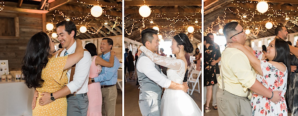 Slow dancing at Craven Farms in Snohomish. Photos by Joanna Monger Photography, Snohomish and Seattle Wedding Photographer.