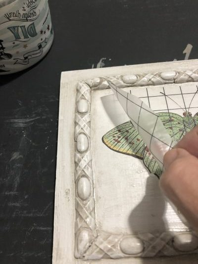 Easy DIY art using IOD moulds and transfers