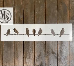 Bird on a wire stencil