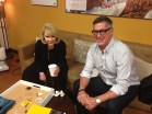 In the green room at QVC