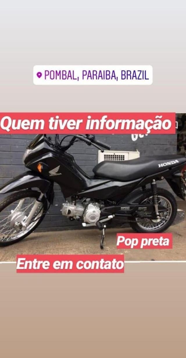 MOTO É FURTADA NA MADRUGADA DESTA SEXTA-FEIRA EM POMBAL