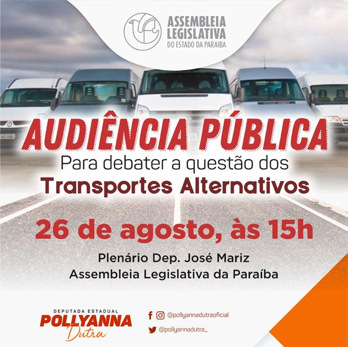 Audiência Pública para debater regularização dos transportes alternativos ocorrerá na próxima segunda (26)