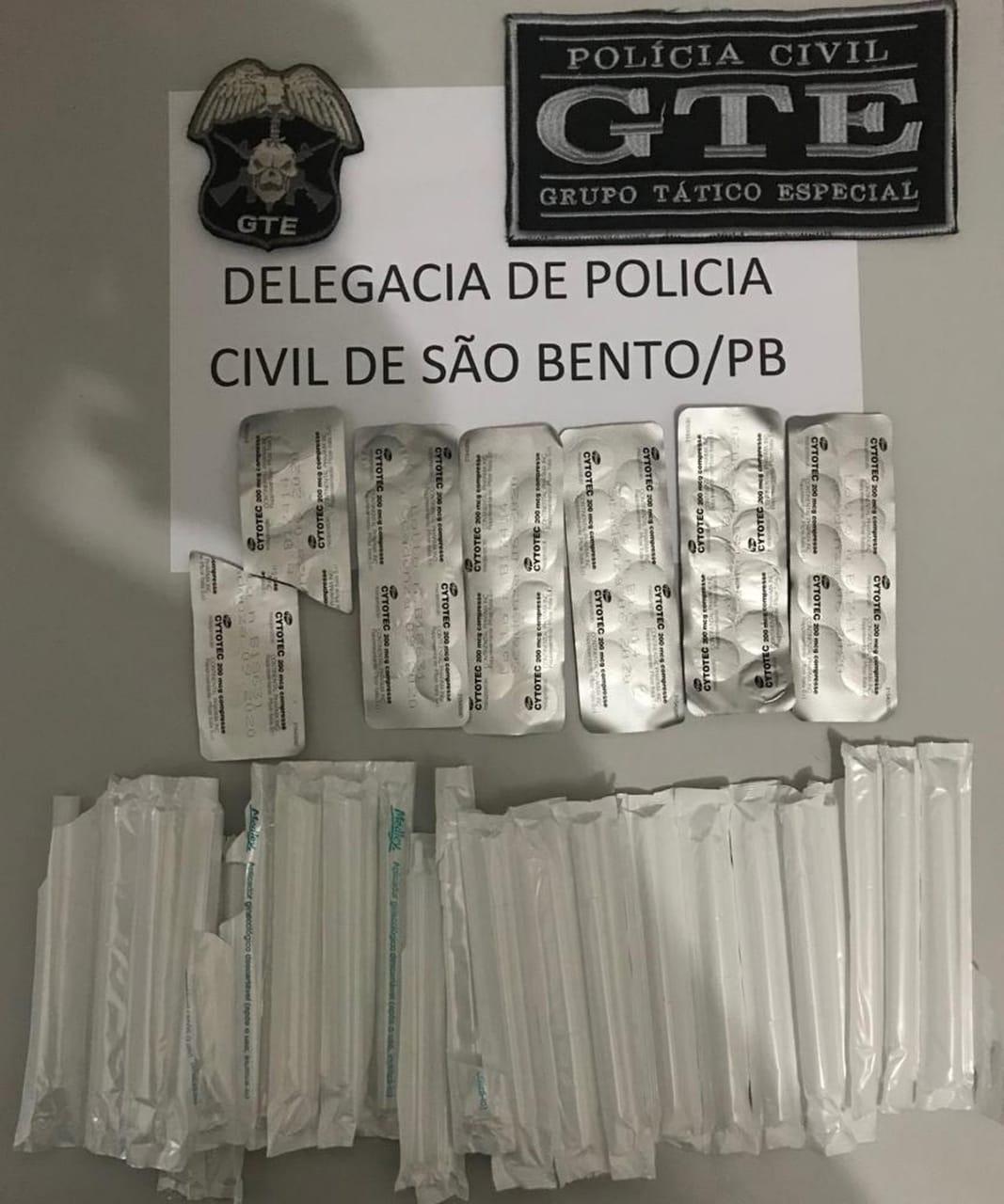 POLÍCIA CIVIL DE SÃO BENTO PRENDE MULHER SUSPEITA DE VENDER ILEGALMENTE MEDICAMENTO ABORTIVO.
