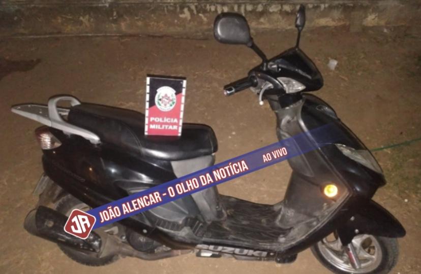 Exclusivo Motocicleta com registro de roubo é localizada na cidade de São Domingos-PB