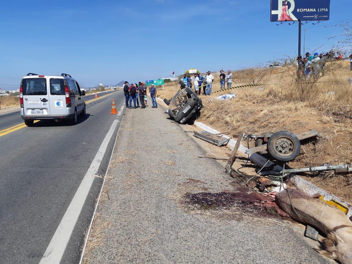 Grave acidente automobilístico é registrado nesta quinta-feira em Patos.