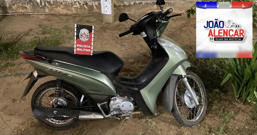 Exclusivo Polícia Militar de Pombal recupera moto roubada na noite deste sábado