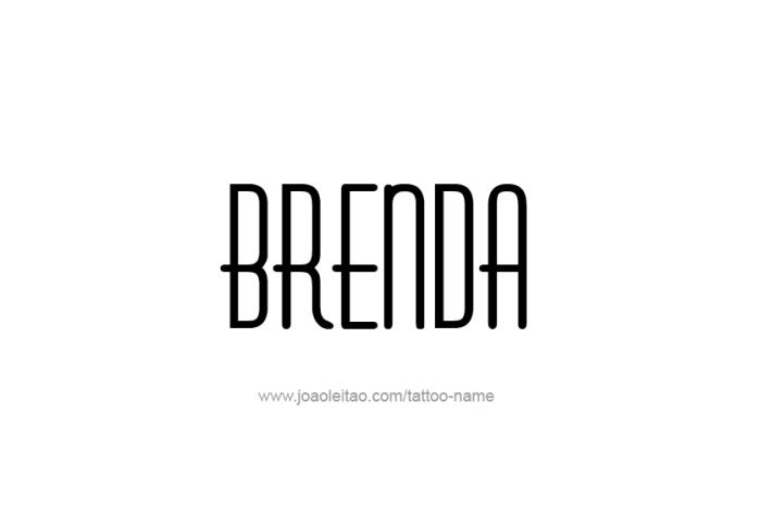 Tattoo Design Name Brenda