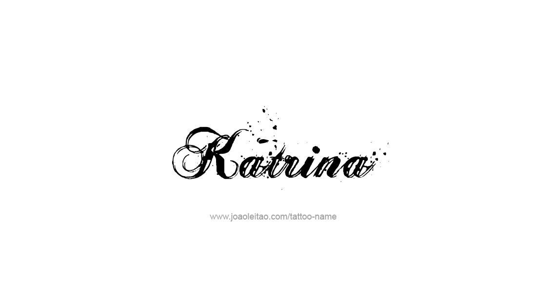 Katrina Name Tattoo Designs