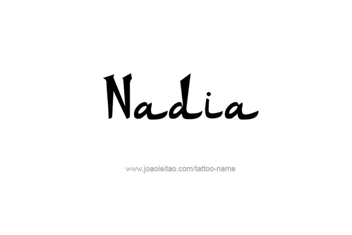 Tattoo Design Name Nadia