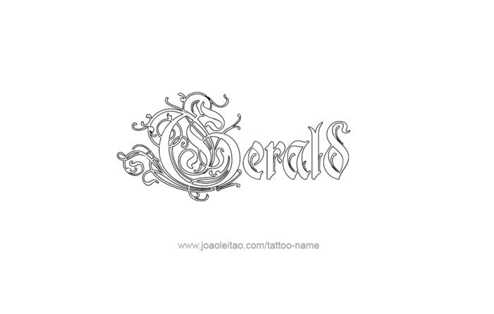 Tattoo Design  Name Gerald