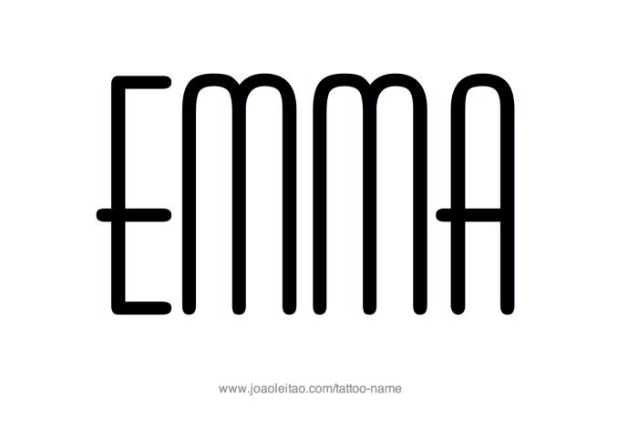 Tattoo Design Name Emma