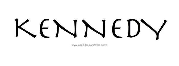 Tattoo Design Name Kennedy
