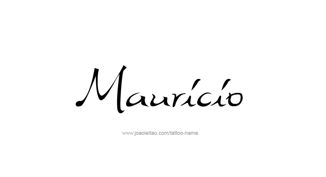 mauricio name tattoo designs. Black Bedroom Furniture Sets. Home Design Ideas